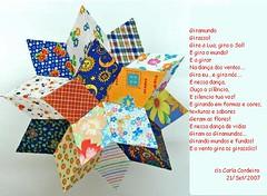* ۞ uma 'Estrela Mágica'... um  fractal...   um icosidodecaedro ou simplesmente: Giramundo (Carla Cordeiro) Tags: star estrela poesia móbile giramundo azullaranja estreladafelicidade minhasletrinhas