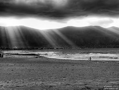 Rays of light (Renmarc) Tags: light sea sky blackandwhite bw cloud sun white black beach nature clouds mono flickr surf mare ray nuvola emotion surfer favorites natura more cielo views sicily faves palermo favs bianco nero soe monocrome capaci bwemotions interestingess bwdreams challengeyouwinner renmarc anawesomeshot