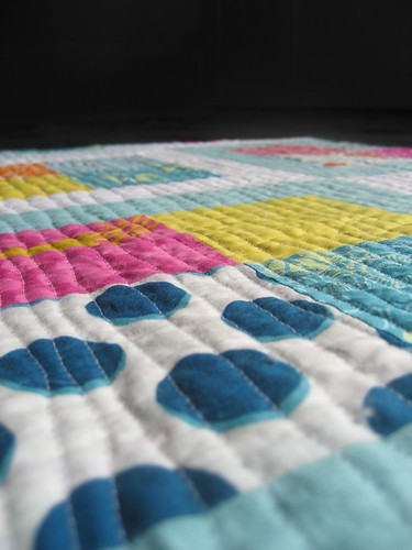 up close on the quilting