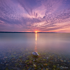 the longest day ([Adam Baker]) Tags: county pink blue sunset summer orange ny reflection clouds canon rocks long exposure finger lakes upstate portfolio seneca cpl senecalake sweeping sunstar 1740l gnd photomatix adambaker vertorama 5dmarkii exposurefusion