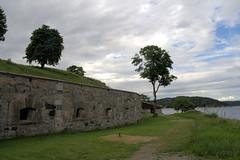 Oscarsborg - east battery, seen from the waterside (Quistnix!) Tags: battery east coastal artillery fortress festning defense oscarsborg artillerie