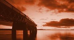 Into The Gloaming. (stonefaction) Tags: bridge sunset river landscape scotland twilight scenery dundee dusk tay gloaming