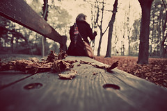 Autumn ambiance (Feo David) Tags: wood autumn trees en woman paris tree fall girl leaves saint st forest automne out dead focus branch dof map branches femme arbres morte foret arbre parc banc bois feuilles germain saintgermainenlaye mortes laye banche