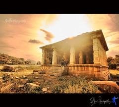 Nirvana (Gulfu) Tags: life sunset india sepia canon ruins rocks nirvana tokina1224 rainy karnataka oldbuilding leena hampi 1000d gulfuphotography