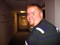 Michael Hanging Out in the Halls at Work (joanna8555) Tags: work pose michael hall nc funny northcarolina adameve hillsborough phe joanna8555 thejabproj3ct shebbalone