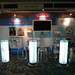 Illuminated Bar Table, Charles Ghost High Stool - Furniture Hire - Hilton London Metropole Hotel