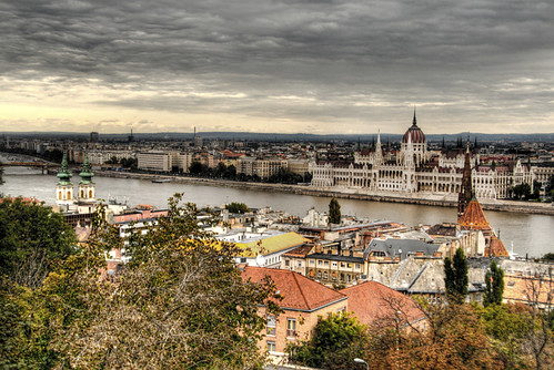 View of the parliament. Budapest. Vista del parlamento