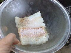 Schrod with Salt, Pepper and Olive Oil