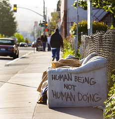 Human Being, Not Human Doing (Thomas Hawk) Tags: california street city usa delete10 delete9 delete5 lights graffiti delete2 oakland unitedstates fav50 delete6 10 delete7 unitedstatesofamerica delete8 delete3 delete delete4 fav20 couch eastbay fav30 bayarearapidtransit fav10 macarthurbart fav25 fav40 eastbaygraffiti superfave