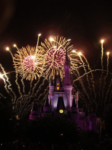093 - Los fuegos artificiales en Magic kingdom