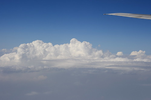 Thundercloud from airplane