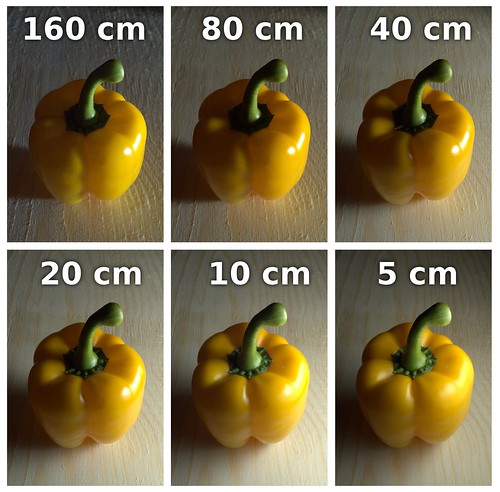 Apparent light size on pepper