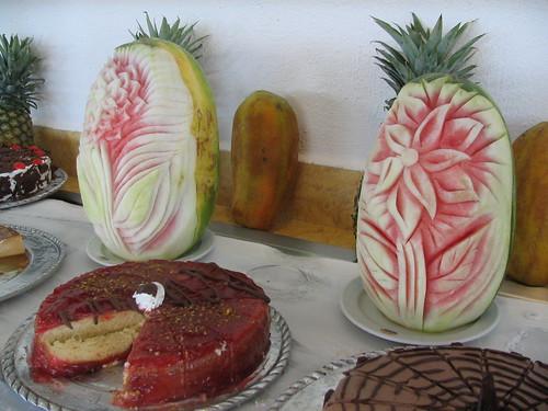 Artistic dessert table