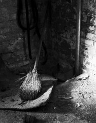 Broom (in elevator shaft)