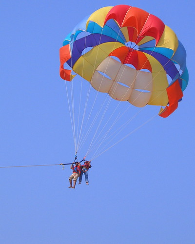 Looking for things to do?  Try parasailing in Destin!