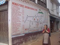 plano de las decenas de monasterios que hay en la zona