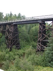 2007 0820 UP Watersmeet Train Trestle (lexup) Tags: wood trestle bridge train michigan upperpeninsula yooper jumboriver