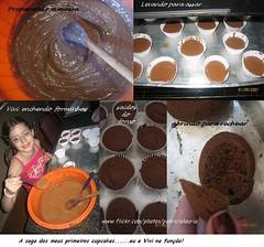 Cupcakes ....meus primeiros...de chocolate (Patrcia Lauria) Tags: cupcakes lanche bolinhos minibolos ganashe muffinsconfeitados