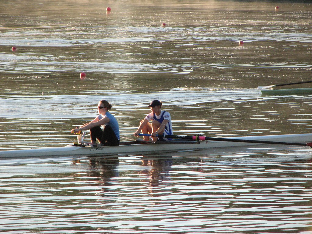 Rowing on Lake Carnegie