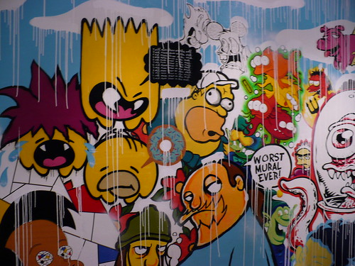 simpsons mural at the showroom nyc / Joe Tallarico