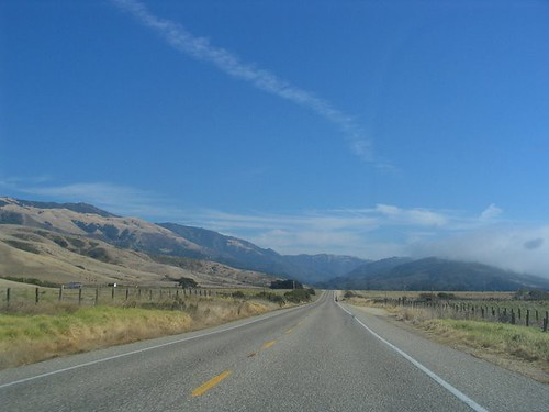 Open Road near San Simeon