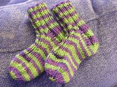 Jungle stripe baby socks