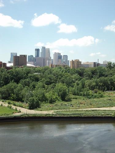 Minneapolis Skyline from Washington Ave Bridge