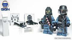 GIGN TT stand (Shobrick) Tags: lego tiny custom swat tactical gign brickarms brickforge shobrick