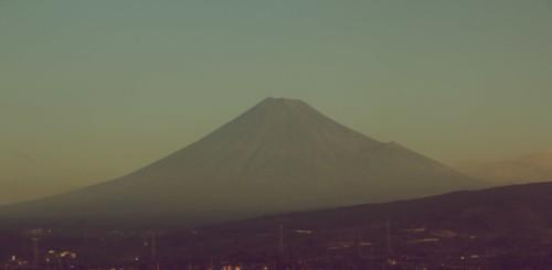 Fujiyama from the shinkansen