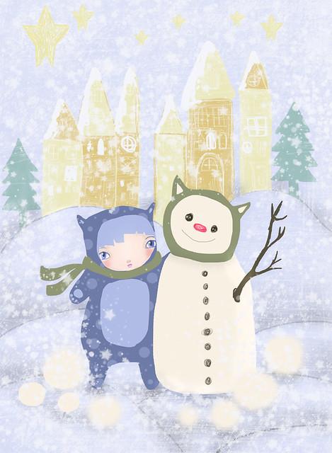 bear snowman & bear whimsy