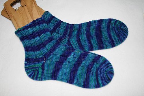 4x2 rib Malabrigo socks