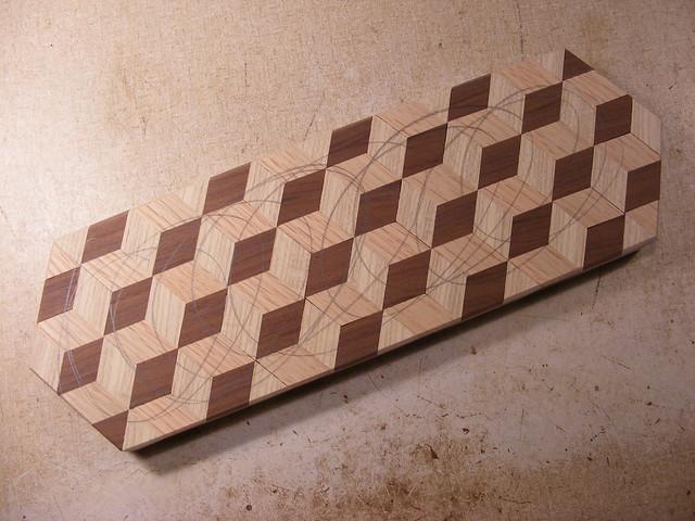Making a Tumbling Block Cribbage Board #25