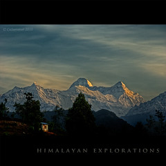 Fairytale Himalaya! (CoSurvivor) Tags: morning india sunrise landscape peaks himalaya hdr nandadevi kumaon uttarakhand chaukori nandadevieast cosurvivor nandaghunti