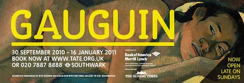 Cartel de la exposición de Gauguin en la Tate Modern