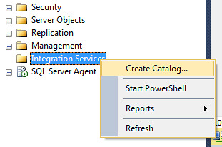 SSMS Create Catalog Step1