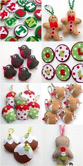 Christmas Fair Goodies (heartfelthandmade) Tags: christmas houses decorations men handmade gingerbread felt heartfelt