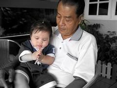Bapak (soulie) Tags: blackandwhite baby dad grandpa bapak