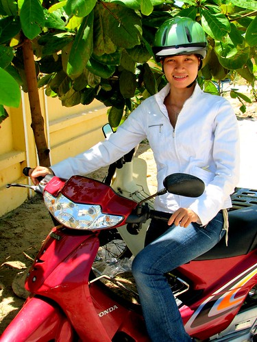 Translator Mieng on Motorbike