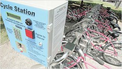 Free bikes as part of a program to encourage healthy lifestyles.