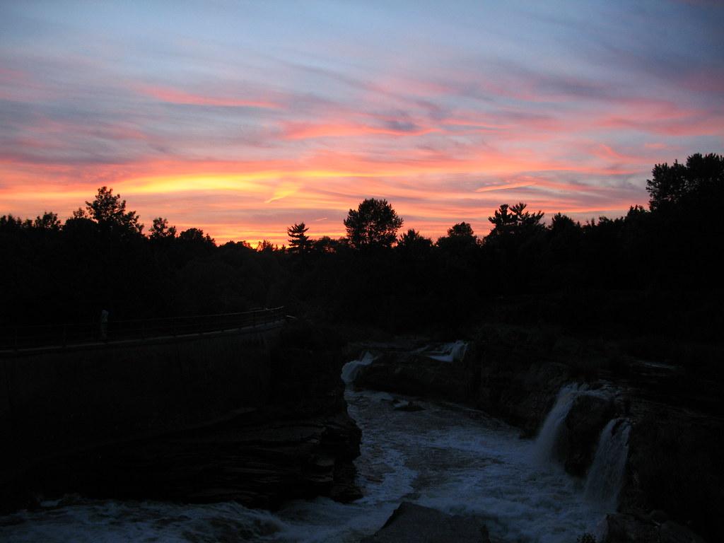 Sunset over Hog's Back Falls