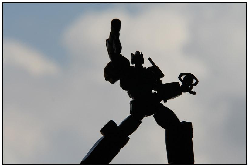 Optimus Prime in Silhouette