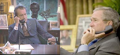 Nixon, vietnam; Bush, Irak