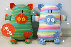 New Colours! (Fafi) Tags: cute toy pig softies porco maricota