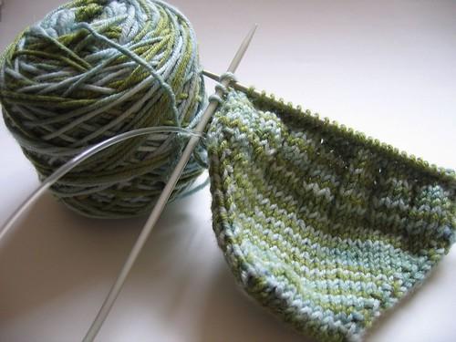 blue-green socks.