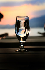 Utopia (100%) Tags: sunset canada reflection glass romantic setting thecanneryseafoodhouse
