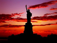Statue of Liberty (cricechen) Tags: sunset liberty nationalpark newjersey statueofliberty nationalmonument skyplay newyourk 5photosaday outstandingshots anawesomeshot superbmasterpiece nationalparksofnewyorkhabors