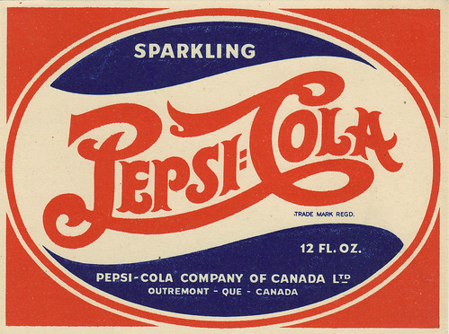Pepsi-Cola - Canadian bottle label - 1940's by JasonLiebig