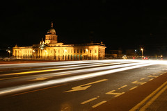 (Barry McGrath) Tags: city longexposure ireland dublin house cars night canon eos lights long exposure cityscape docklands quays customs customshouse 30d canoneos30d superbmasterpiece barrymcg bazzymcg canonef1855f3656