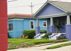 purple blue and magenta (jugglingnutcase) Tags: neworleans neighborhood gentilly colorfulhouses