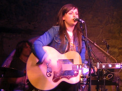 Amy Macdonald on stage at T On The Fringe After Party at The Caves, Edinburgh